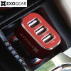 EXOGEAR ExoCharge 3 Port 5.1A Car Charger