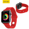 Olixar Silicone Rubber Apple Watch 3 / 2 / 1 Sport Armband (38mm) Rot