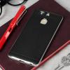 Bumper Frame Huawei P9 Case Hülle mit Carbon Fibre Design in Silber