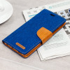 Mercury Canvas Diary Huawei P9 Wallet Hülle Blau / Camel