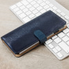 Hansmare Calf iPhone 7 Plus Wallet Case Hülle in Navy Blau