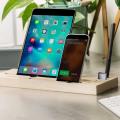 Olixar Tablet and Smartphone Multifunction Wooden Desk Station