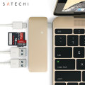 Satechi USB-C Adapter & Hub mit USB Lade- Anschluss in Gold