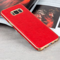 Fund Samsung Galaxy S8 Plus Olixar FlexiLeather Hülle in Rojo