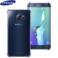 Original Samsung Galaxy S6 Edge+ Clear Cover Case in Blau/Schwarz