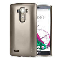 Mercury Goospery iJelly LG G4 Gel Case Hülle Metallic Gold