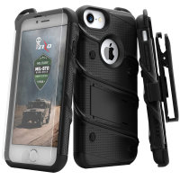 Zizo Bolt Series iPhone 7 Tough Case Hülle & Gürtelclip Schwarz