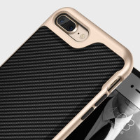 Caseology Envoy Series iPhone 7 Plus Hülle Carbon Fibre Schwarz