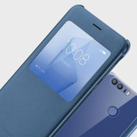 Original Huawei Honor 8 View Flip Case Tasche in Blau