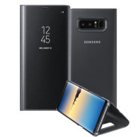 Official Samsung Galaxy Note 8 Clear View Standing Cover Case - Schwarz