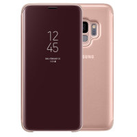 Official Samsung Galaxy S9 Clear View Standing Cover Case - Gold