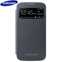 Official Samsung Galaxy S4 S-View Premium Cover Case - Black