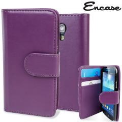 Galaxy S4 Mini Ledertasche Style Wallet in Lila