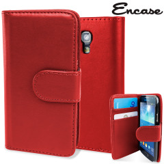 Galaxy S4 Mini Ledertasche Style Wallet in Rot