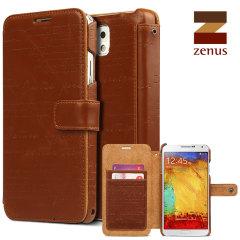 Zenus Masstige Lettering Diary Series Galaxy Note 3 Tasche in Braun