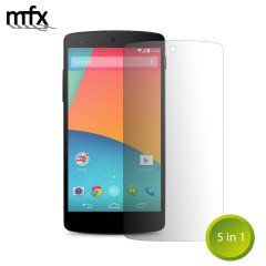 MFX Screen Protector 5-in-1 Pack - Google LG Nexus 5