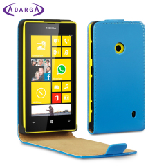 Adarga Leder Style FlipCase Lumia 525 und Lumia 520 Tasche Neon Blau