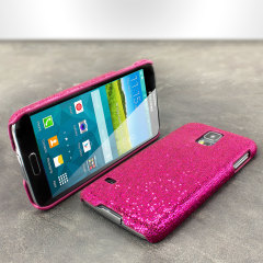 Galaxy S5 Hülle Glitter Case in Magenta
