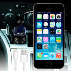 Olixar High Power iPhone 5 KFZ Ladekabel in Schwarz