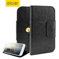 Olixar Leather-Style Universal Rotating 5 Inch Phone Case - Black