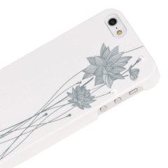 Bling My Thing Ayano Kimura Lotus Flower iPhone SE Case - White