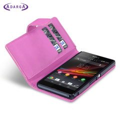 Adarga Xperia Z Tasche Wallet Case in Hot Pink