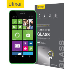 Olixar Nokia Lumia 630 / 635 Tempered Glass Screen Protector