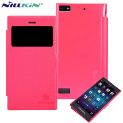 Nillkin Fresh Faux Leather BlackBerry Z3 View Case - Red