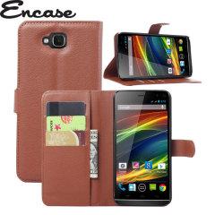 Encase Wiko Slide Tasche Wallet Case in Braun
