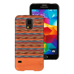 Man&Wood Samsung Galaxy S5 Hölzerne Hülle - Braun kariert