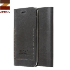 Zenus Tesoro Samsung Galaxy Note 4 Leder Diary Tasche in Schwarz