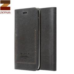 Zenus Tesoro Samsung Galaxy Note 4 Leather Diary Case - Black