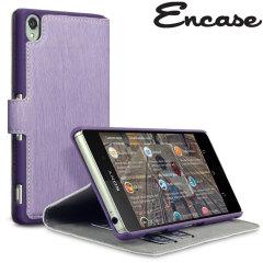 Encase Leather-Style Slim Sony Xperia Z3 Wallet Case - Purple