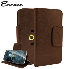 Encase Rotating 4 Inch Leather-Style Universal Phone Case - Brown