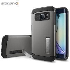 Spigen Slim Armor Samsung Galaxy S6 Edge Case - Gunmetal