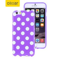 Polka Dot FlexiShield iPhone 6S Plus / 6 Plus Gel Hülle in Lila
