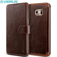 Verus Dandy Leather-Style Samsung Galaxy S6 Edge Plus Case - Brown
