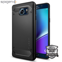 Spigen Rugged Armor Samsung Galaxy Note 5 Tough Case - Black