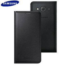 Official Samsung Galaxy J5 2015 Flip Wallet Cover - Black