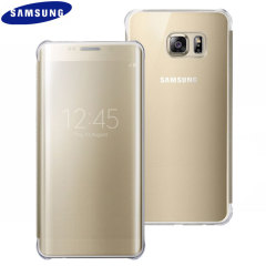 Official Samsung Galaxy S6 Edge Plus Clear View Cover Case - Gold