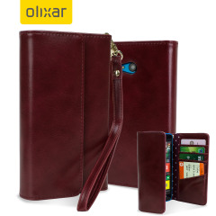 Olixar Leather-Style Microsoft Lumia 640 Clutch Purse Case - Polka Red