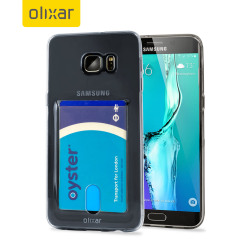 FlexiShield Slot Samsung Galaxy S6 Edge Plus Gel Case - Grey Tint