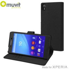 Muvit Wallet Folio MFX Sony Xperia Z5 Premium Case - Black