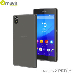 Muvit MFX MiniGel Sony Xperia Z5 Case Hülle in Dark Smoke