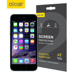 Olixar iPhone 6S Plus Screen Protector 2-in-1 Pack
