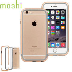 Moshi iGlaze Luxe iPhone 6S Bumper Case Hülle in Champagner Gold
