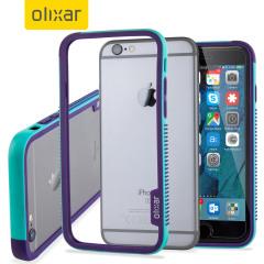 Olixar FlexFrame iPhone 6S Bumper Hülle in Blau