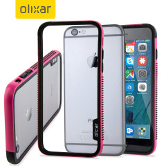 Olixar FlexFrame iPhone 6S Plus Bumper Hülle in Hot Pink