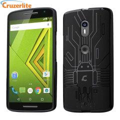 Cruzerlite Bugdroid Circuit Case Motorola Moto X Play Hülle in Schwarz