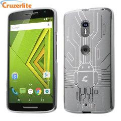 Cruzerlite Bugdroid Circuit Case Motorola Moto X Play Hülle in Klar